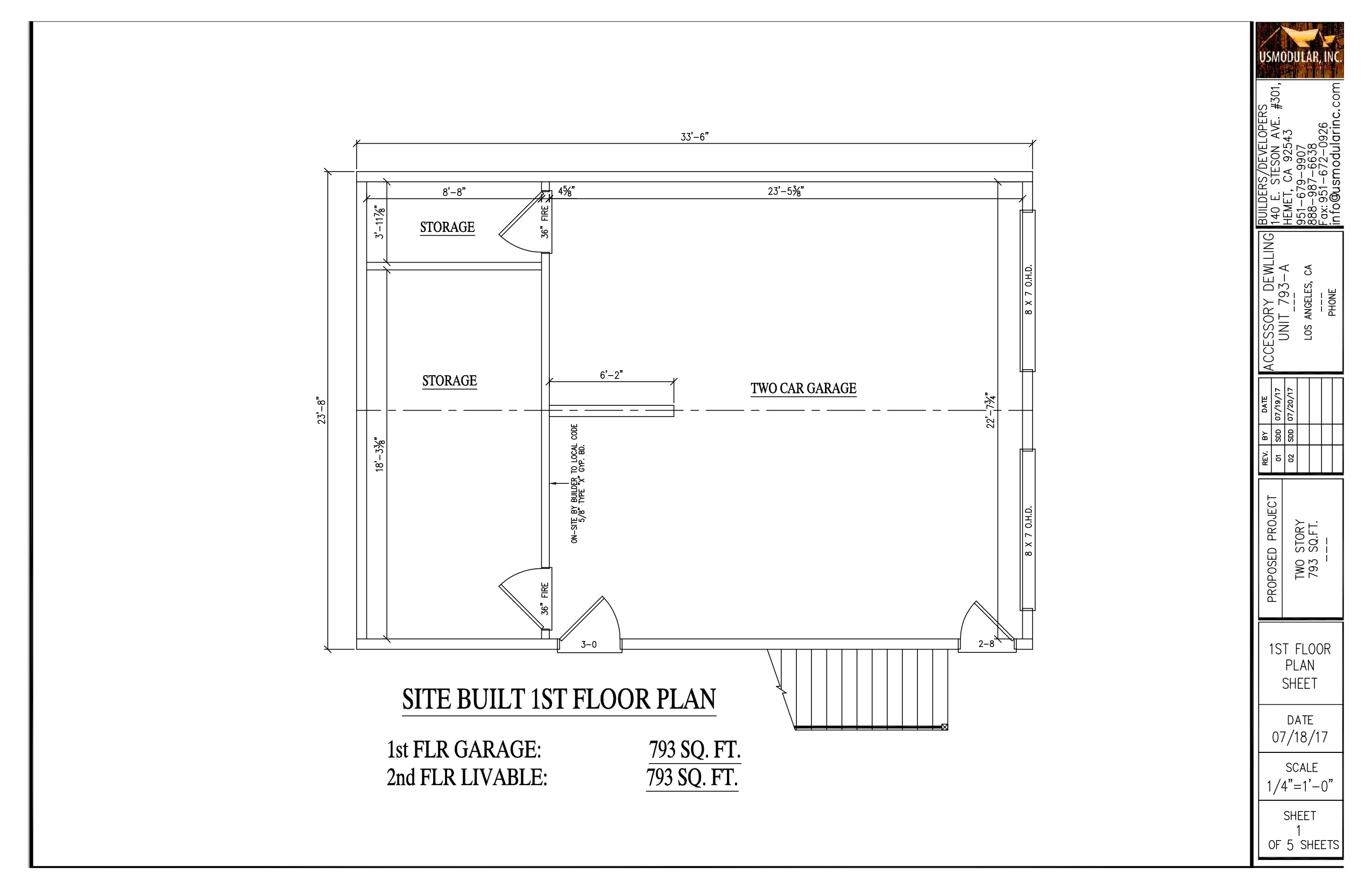 793SF Version 2 1st Floor. View More Tiny Home Floor Plans ...
